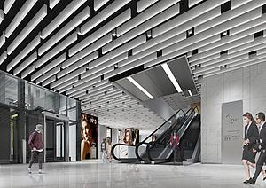 商场入口模型3d模型