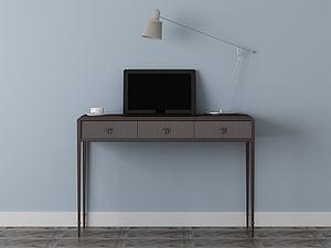 家具饰品组合写字台模型3d模型