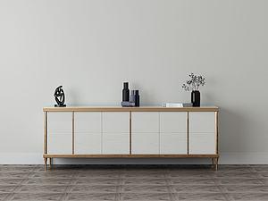 家具饰品组合柜子模型3d模型