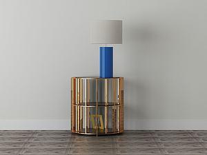 家具飾品組合床頭柜模型3d模型