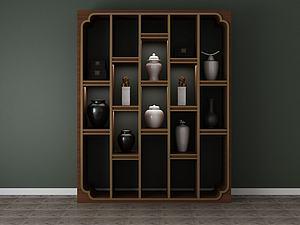 家具饰品组合架子模型3d模型