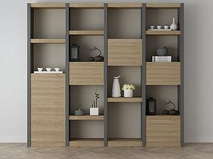 家具飾品組合架子模型3d模型