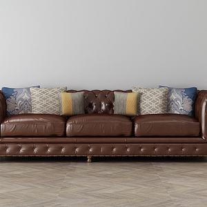 家具飾品組合沙發3d模型