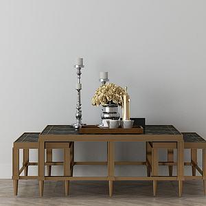 家具飾品組合桌椅3d模型