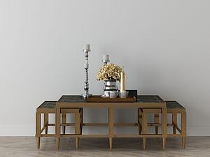 家具饰品组合桌椅模型3d模型