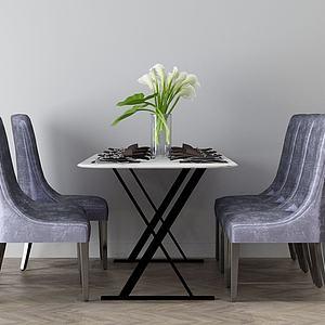 家具飾品組合餐桌3d模型