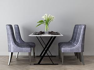 家具飾品組合餐桌模型3d模型