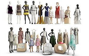 服飾組合模型3d模型