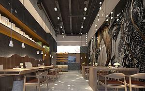 现代风格快餐店模型3d模型