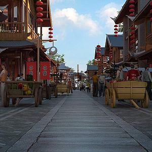 古建商業街3d模型