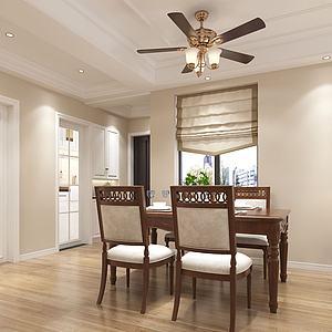 現代美式客廳3d模型