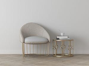 家具飾品組合休閑椅模型3d模型