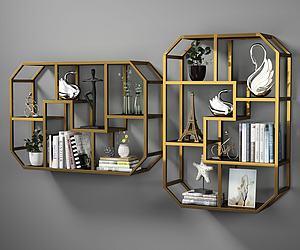 現代金屬裝飾架模型3d模型