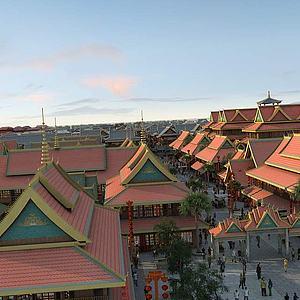 東南亞,寺廟3d模型