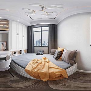 全景臥室3d模型