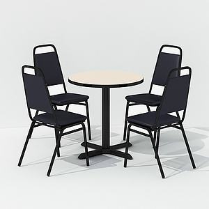 現代休閑會友桌椅模型3d模型
