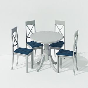 現代休閑桌椅美式模型3d模型