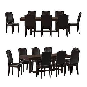 現代休閑桌椅會議桌椅模型3d模型