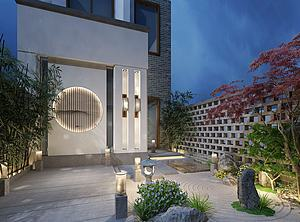 庭院模型3d模型