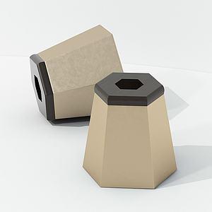 現代半身裙式凳子模型3d模型