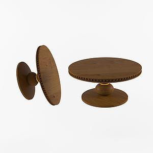 現墩桌圓桌模型3d模型