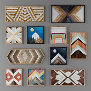 現代地毯裝飾畫掛畫模型3d模型