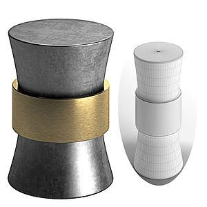 現代金屬燕尾桌3d模型
