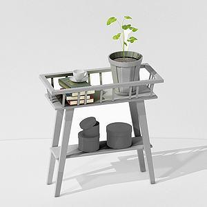 北歐風裝飾桌3d模型