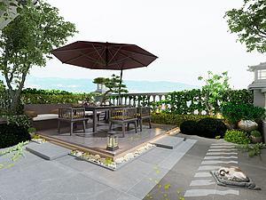 露臺花園模型3d模型