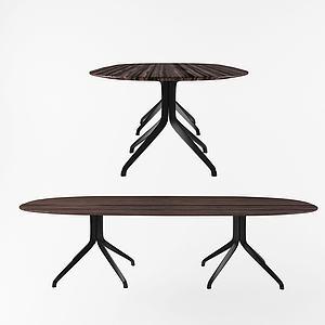 現代八腳桌休閑桌模型3d模型
