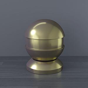 現代桌面擺件金球模型3d模型