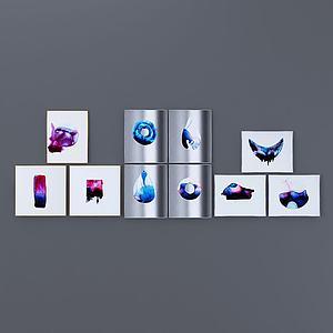 现代艺术范挂画模型3d模型