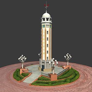 人民解放紀念碑模型3d模型