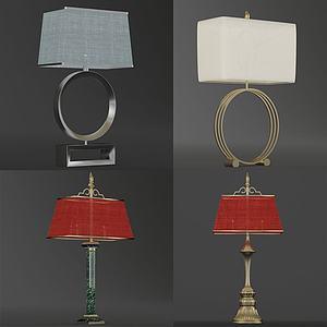 现代复古小台灯组合模型3d模型