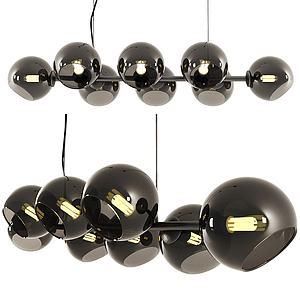 现代多球式吊灯模型3d模型
