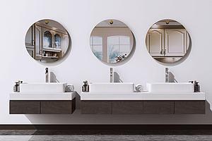 现代洗手台模型3d模型