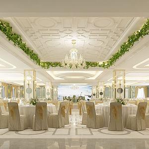 后現代風格酒店3d模型