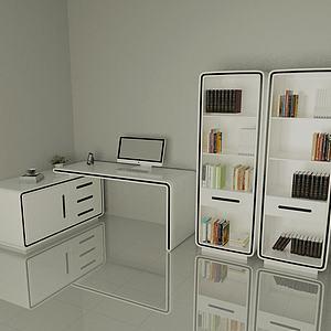 電腦桌3d模型