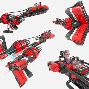 LEGO樂高現代積木玩具3d模型