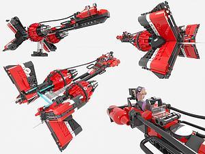 LEGO樂高現代積木玩具模型3d模型