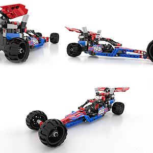 LEOGO-樂高汽車現代積木3d模型