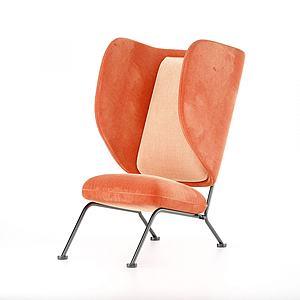 后现代个性休闲椅模型3d模型