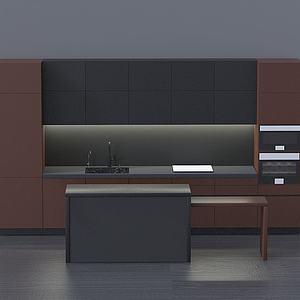 现代厨房设计模型3d模型
