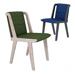 現代拼接休閑椅3d模型