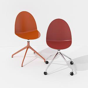 現代簡約帶輪椅辦公椅3d模型