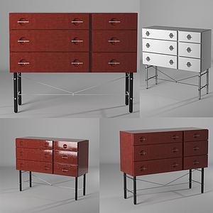 后現代邊柜裝飾柜模型3d模型