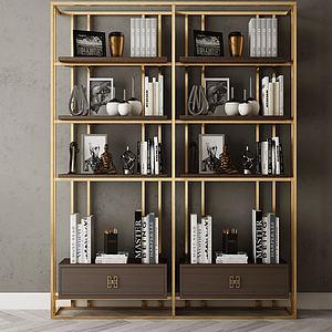 家具饰品组合书架模型3d模型