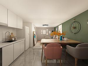 家具饰品组合大开间模型3d模型