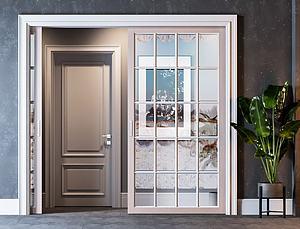房間門組合模型3d模型