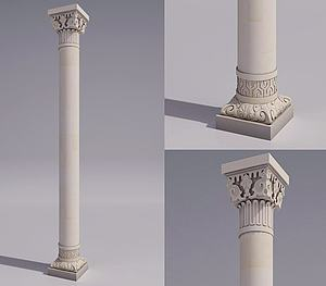 雕像柱子模型3d模型